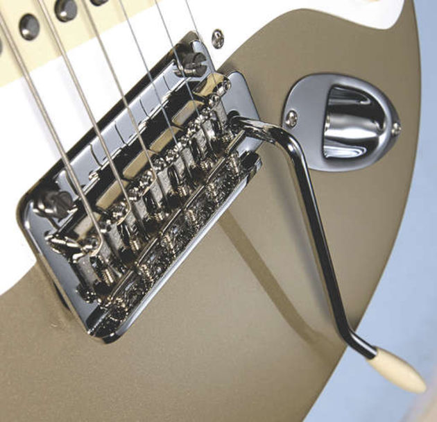 The two-point vibrato bridge offers unobtrusive modern stability