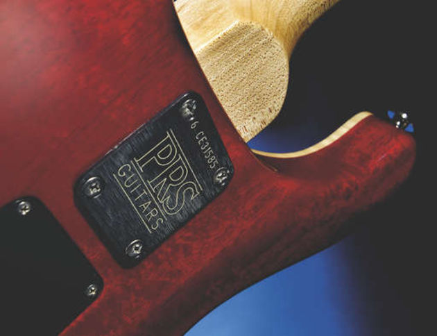 The bolt-on neck join still allows for comfortable upper-fret access