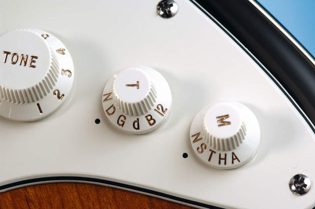 Access the alternate tunings and modelled pickup sounds here