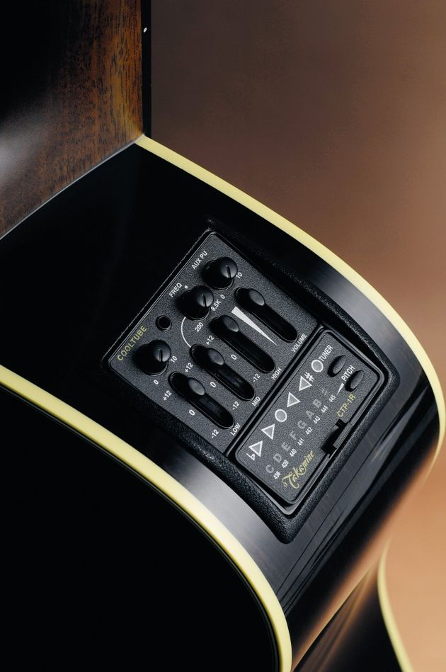 This Takamine has a built-in CTP-1 Cool Tube preamp