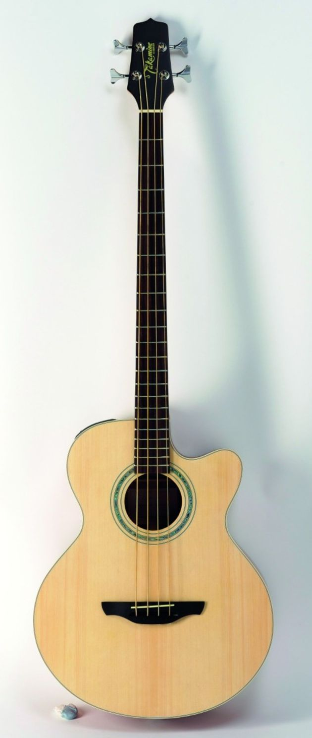 This electro-acoustic bass is comfortable to play