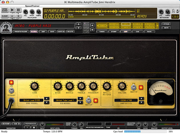 The software is a special version of AmpliTube