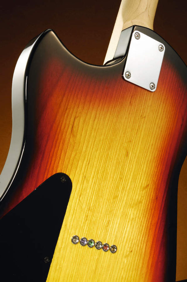 A Fender-like four-bolt neck join