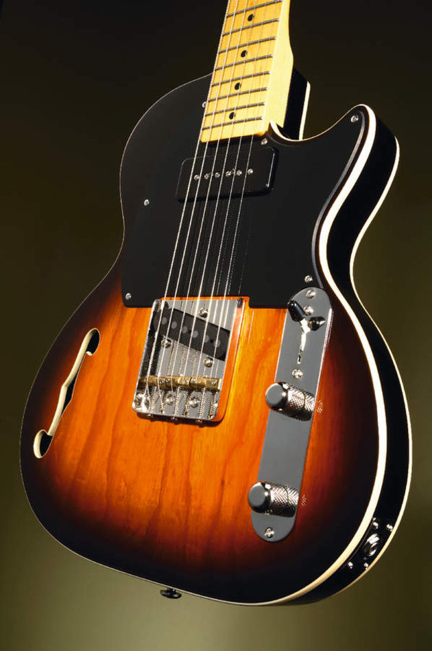 The guitar combines classic features