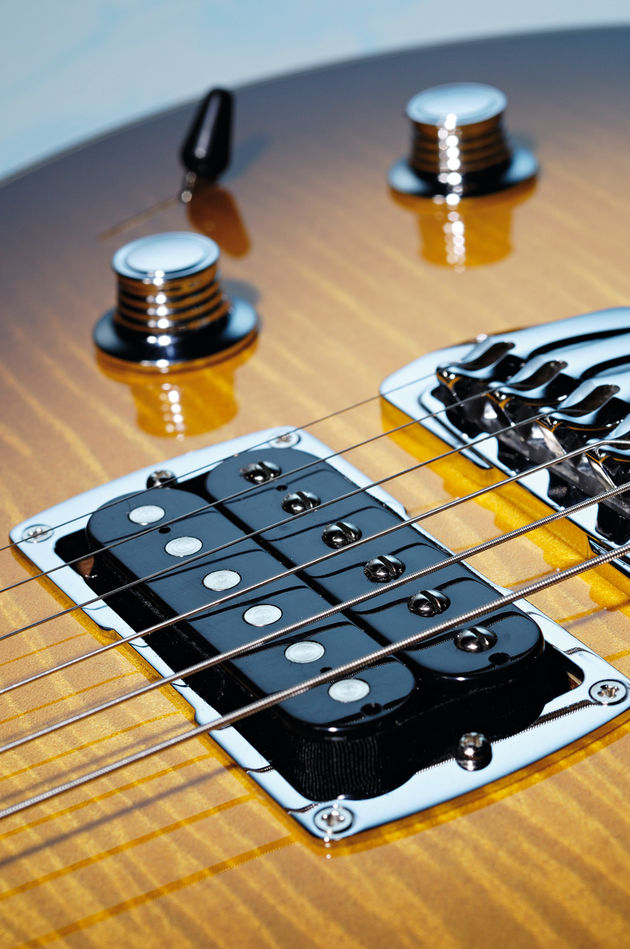 Taylor's Style 2 pickups sound typically wide and slightly hot
