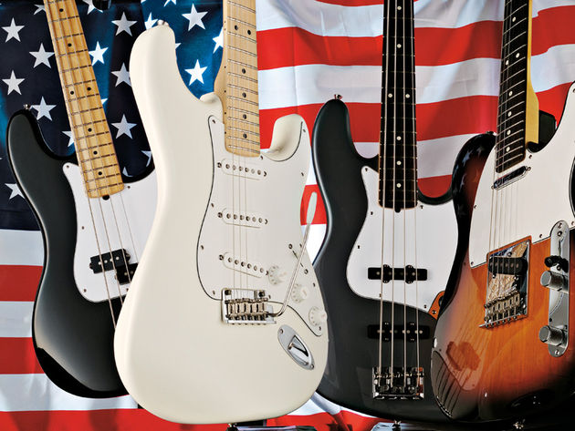 The American Standard Stratocaster alongside its similarly-updated siblings