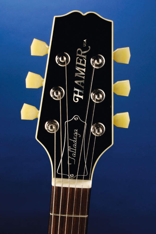 The bound headstock topped with TonePros' Keystone tuners