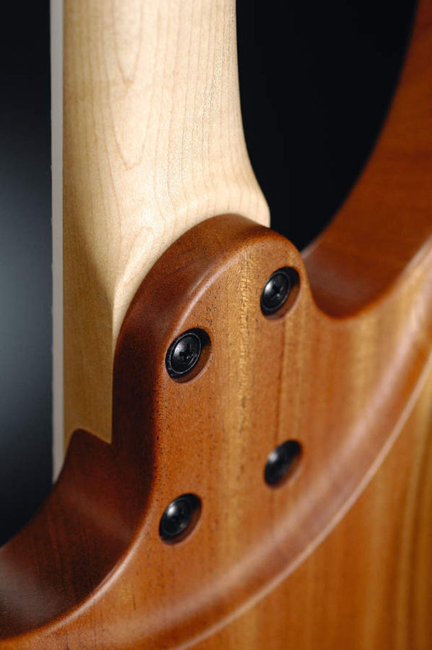 The bolt-on neck gives the guitar a familiar angle
