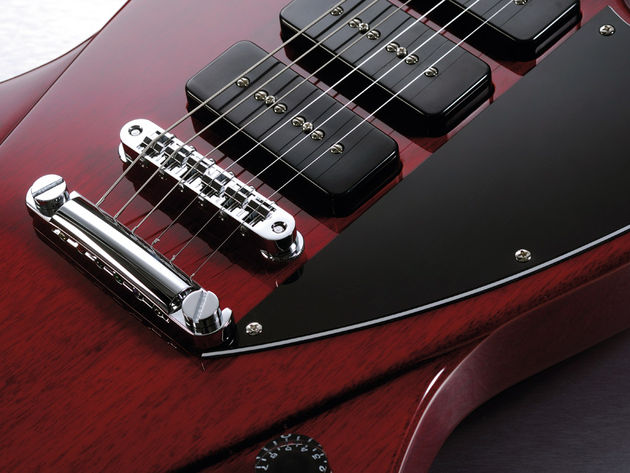 Three P90s and a five-way selector provide a versatile tonal range
