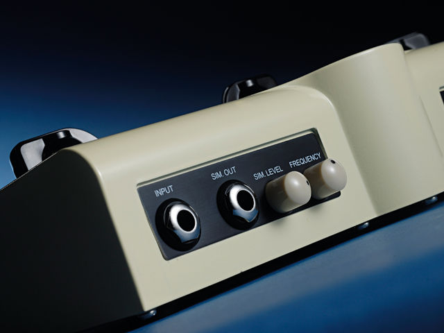 The rear panel's sim level and frequency controls are for adjust speaker cabinet emulation