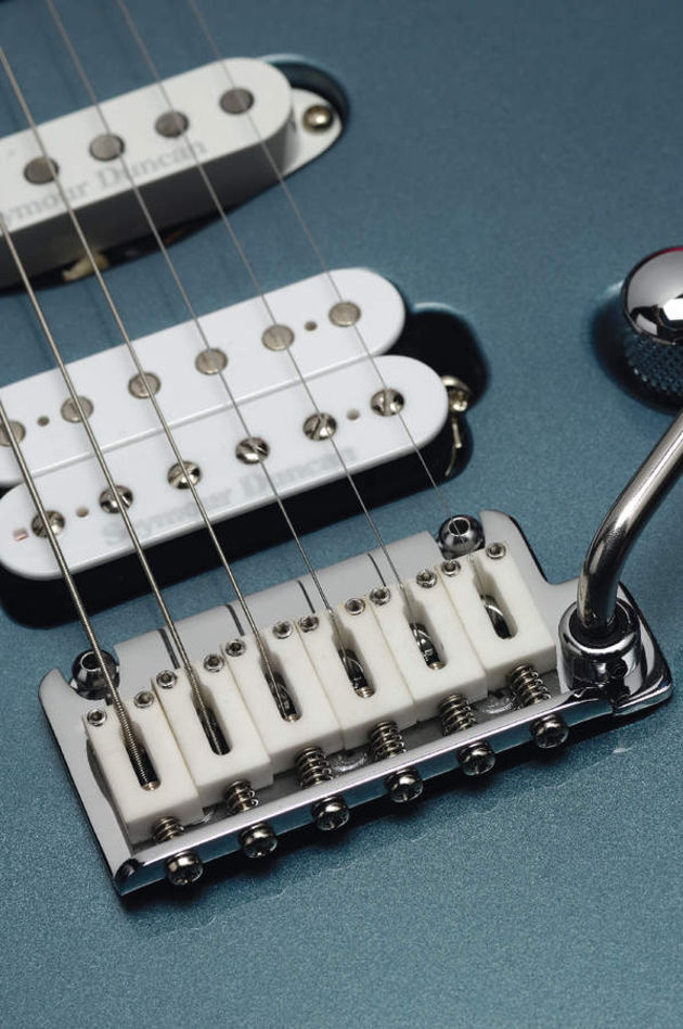 The ceramic saddles make a great aesthetic accompaniment to the pickups.