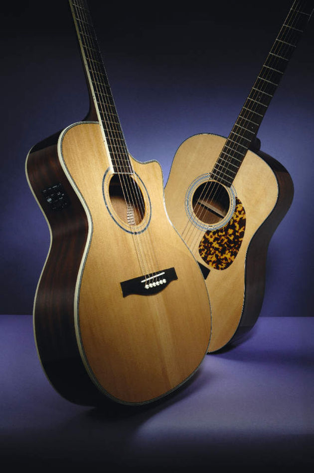 Stanford's MSGC100 (left) and PSRD10 (right) guitars.