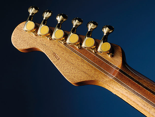 Williams' craft is displayed here by the Deluxe's elegant laminate neck construction