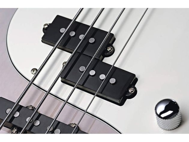 The split-coil pickup dominates the sound