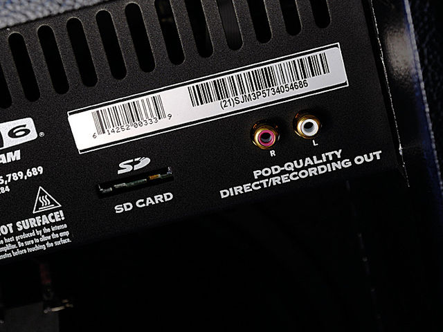 SD card and Line 6 POD outputs