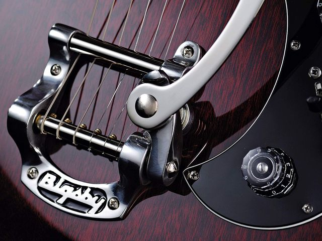 The Starla is the first PRS production model to feature a Bigsby