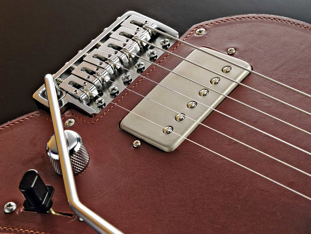 The LHN-3 humbucker's screw coil faces forward for increased warmth