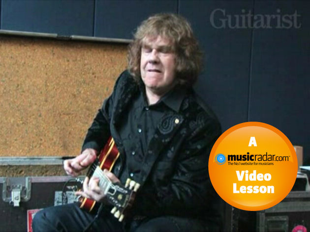 Gary Moore squeezes masses of tone out of his '63 ES-335.