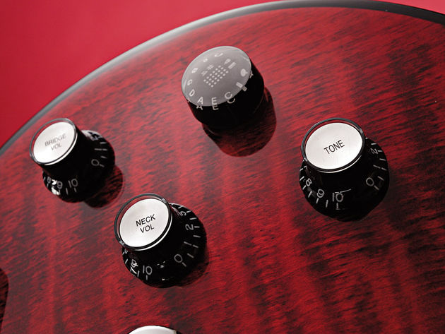The push/pull MCK has 11 positions and handles tuning and tone presets