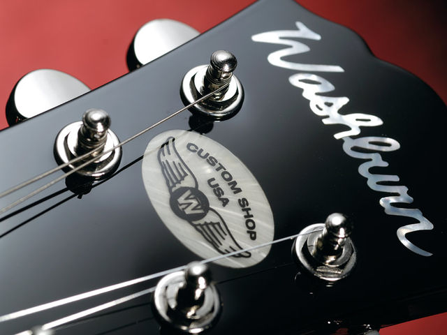 The discreet custom shop logo is the only overt hint to it's top-of-the-line credentials