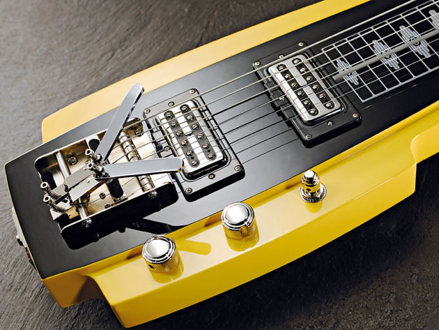 The Pomona uses Duesenberg Little Toaster humbuckers
