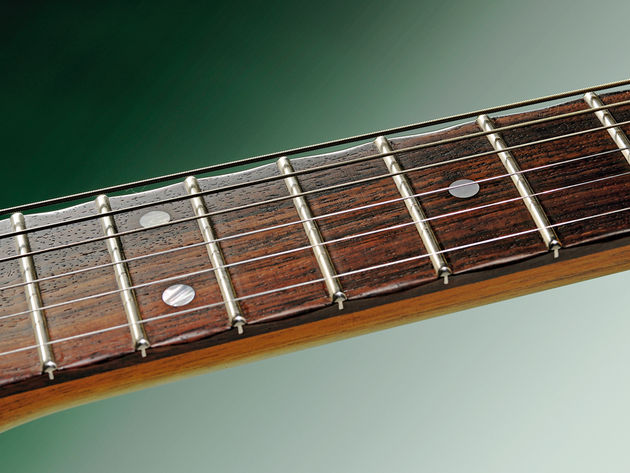 Heavily-rolled fingerboard edges give a played-in feel