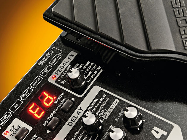 No-nonsense knobs and clear labelling make using the ME-70 a doddle, even for multi-FX newbies