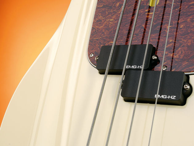 The Primal Instinct features an EMG-HZ split coil passive pickup