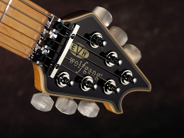 The new headstock design sports a set of EVH-branded Gotoh tuners