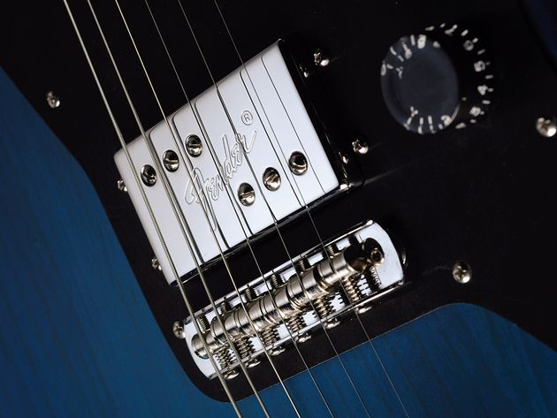 The Ranaldo Jazzmaster's humbuckers give it a very non-Fender-like sound