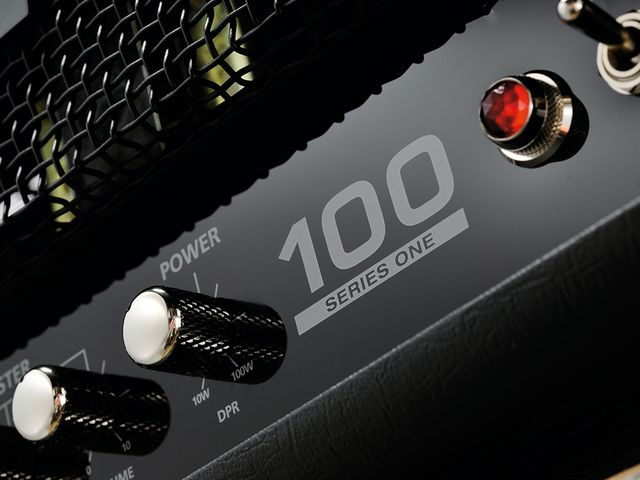 The DPR switch enables you to drop the amp's power down to just 10 watts.