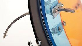 Le kit vintage du mois : Le Ludwig Vistalite dual blue et amber swirl