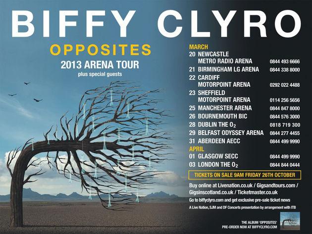 2013 OPPOSITES TOUR