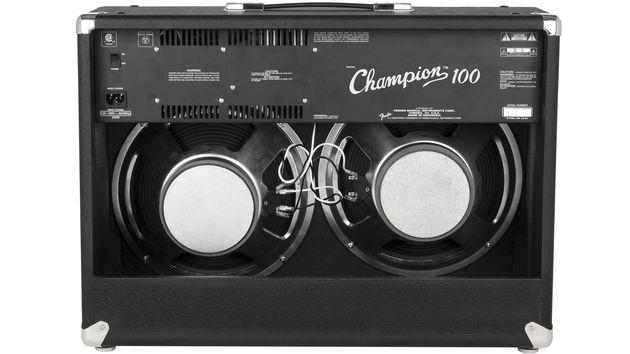 """Ici, ce sont deux haut-paleurs Special Design de 12"""" qui délivrent les sons de ce 100 watts"""