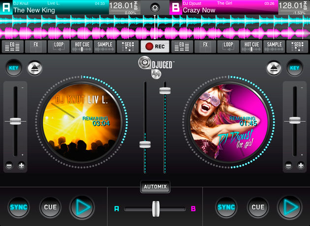 L'application DJUCED pour iPad