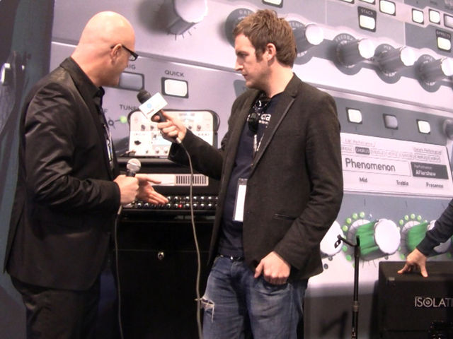 On the show floor at NAMM 2011 in Anaheim, CA