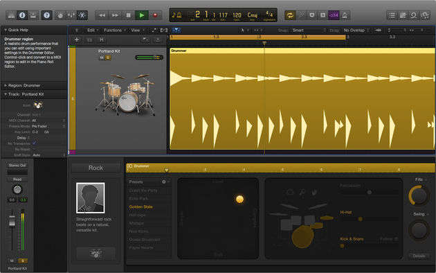 The new Drummer plugin works surprisingly well.