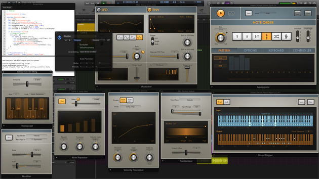 Logic finally has 'proper' MIDI effects plugins.