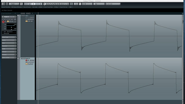 The raw square waves of both instruments are very much alike with only slight differences.