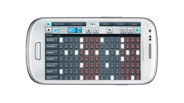 FL Studio Mobile's step sequener will be familiar to users of the desktop version of the software.