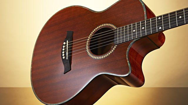 Gear4Music Deluxe Single Cutaway Electro-Acoustic Guitar