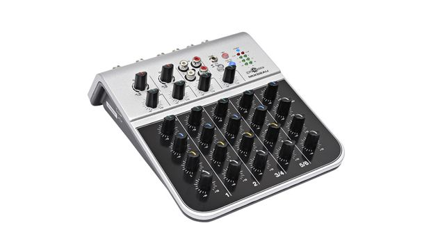 Gear4Music Mix02AU 6-Channel Mini Mixer with USB