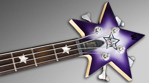 Matching headstock with Bootsy Logo
