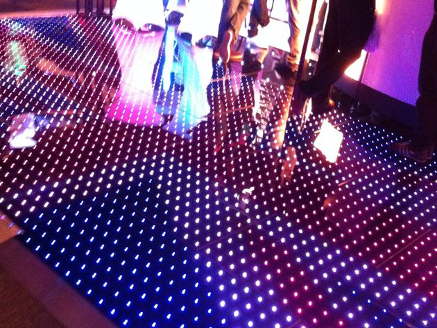Light-up LED dancefloor