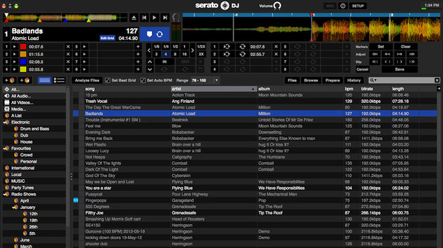 Serato DJ: offline player