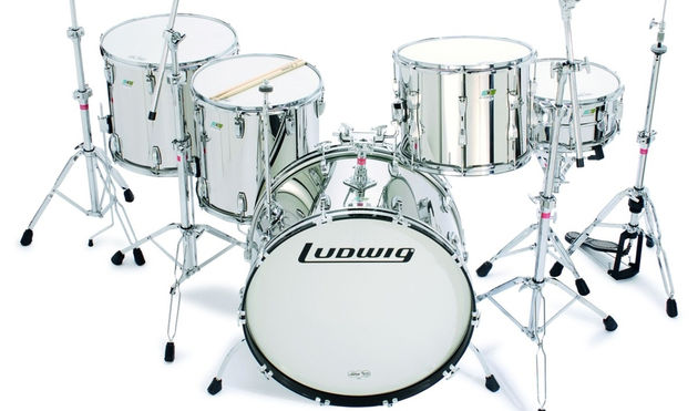 The Ludwig L8264, or Stainless Steel Kit is modelled on John Bonham's last ever kit.