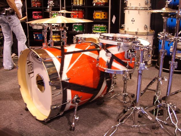 Orange County's new Van Halen-inspired Travis Barker kit