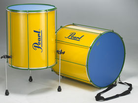NAMM 2008: Pearl Drum's 'bright yellow' Brazilian percussion