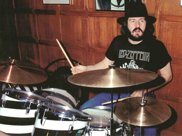 The late John Bonham with the Ludwig Vistalite