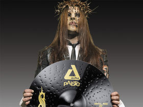 Paiste makes Slipknot's Joey Jordison black cymbals